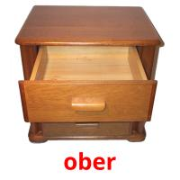 ober picture flashcards