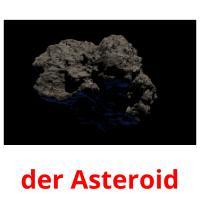 der Asteroid picture flashcards
