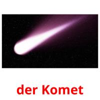 der Komet picture flashcards