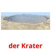 der Krater picture flashcards