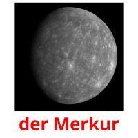 der Merkur picture flashcards
