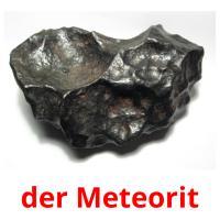 der Meteorit picture flashcards