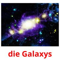 die Galaxys picture flashcards