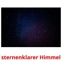 sternenklarer Himmel picture flashcards