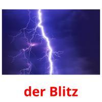 der Blitz picture flashcards