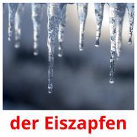 der Eiszapfen picture flashcards