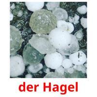 der Hagel picture flashcards