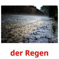 der Regen picture flashcards