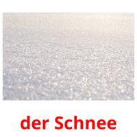 der Schnee picture flashcards