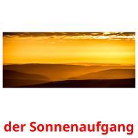 der Sonnenaufgang picture flashcards