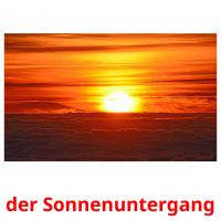 der Sonnenuntergang picture flashcards