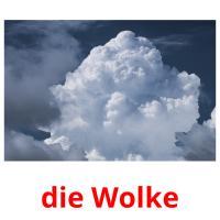 die Wolke picture flashcards
