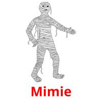 Mimie picture flashcards