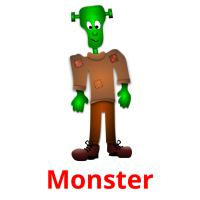 Monster picture flashcards