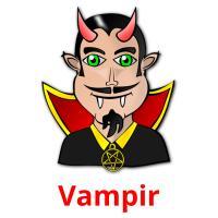 Vampir picture flashcards