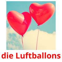 die Luftballons picture flashcards