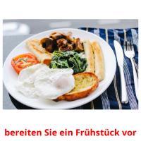 bereiten Sie ein Frühstück vor picture flashcards