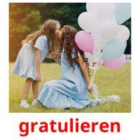 gratulieren picture flashcards