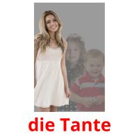 die Tante picture flashcards