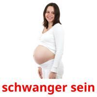 schwanger sein picture flashcards