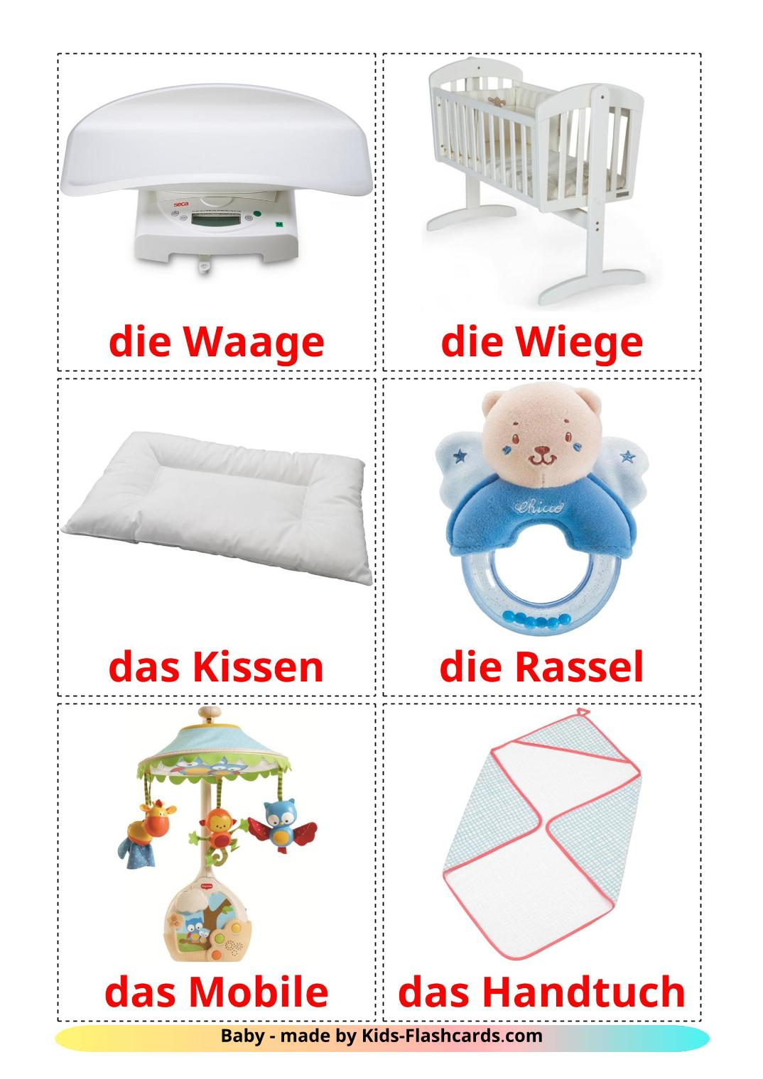 My Things - 20 Free Printable german Flashcards