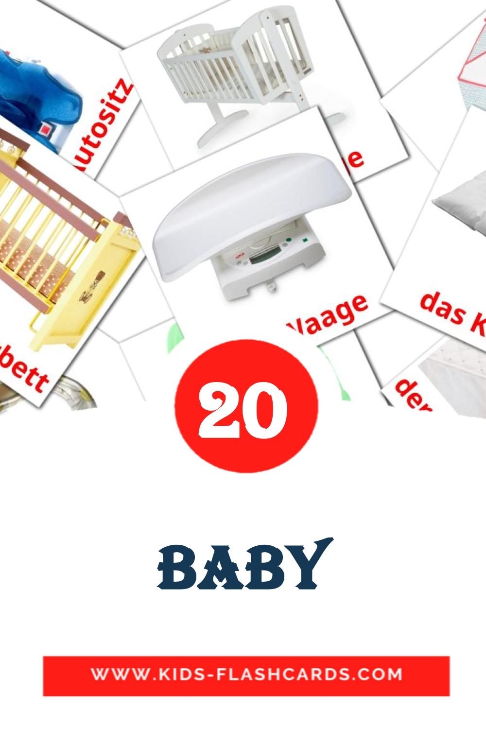 20 Meine Sachen  Picture Cards for Kindergarden in german