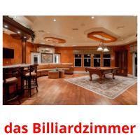 das Billiardzimmer picture flashcards