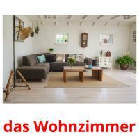 das Wohnzimmer picture flashcards