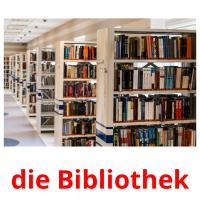 die Bibliothek picture flashcards