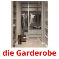 die Garderobe picture flashcards