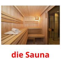 die Sauna picture flashcards