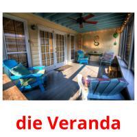 die Veranda picture flashcards