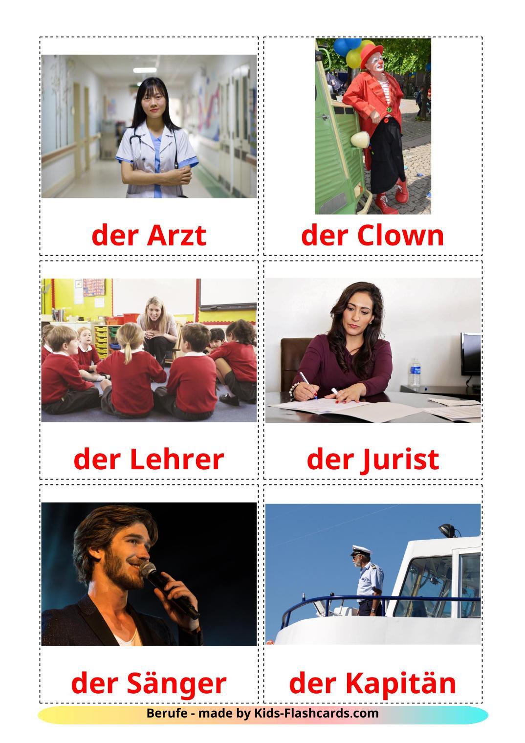 Professions - 36 Free Printable german Flashcards