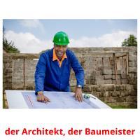 der Architekt, der Baumeister picture flashcards