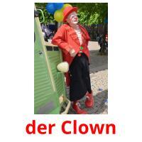 der Clown picture flashcards