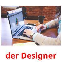 der Designer picture flashcards
