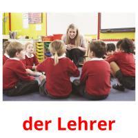 der Lehrer picture flashcards