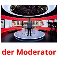 der Moderator picture flashcards