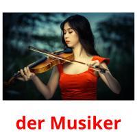 der Musiker picture flashcards