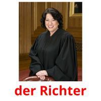 der Richter picture flashcards