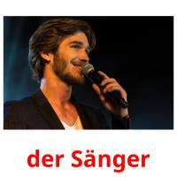 der Sänger picture flashcards
