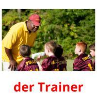 der Trainer picture flashcards
