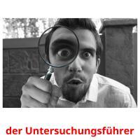 der Untersuchungsführer picture flashcards