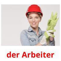 der Arbeiter picture flashcards