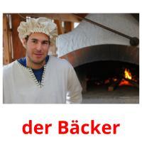 der Bäcker picture flashcards