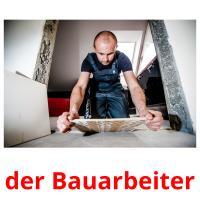 der Bauarbeiter picture flashcards