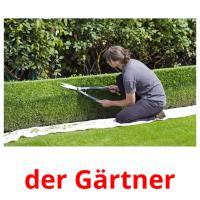 der Gärtner picture flashcards