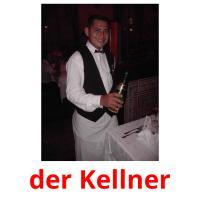 der Kellner picture flashcards