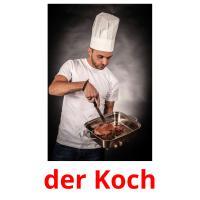 der Koch picture flashcards