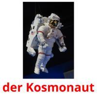 der Kosmonaut picture flashcards
